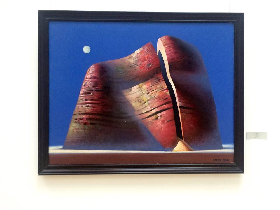 """""""Skała"""", 1990, olej na płótnie"""