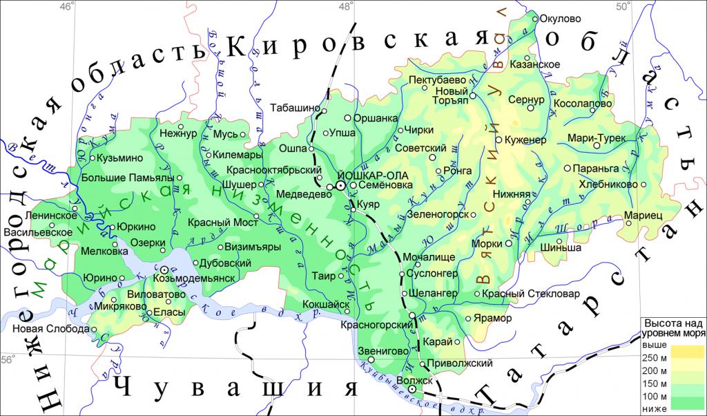 mapa Mari El