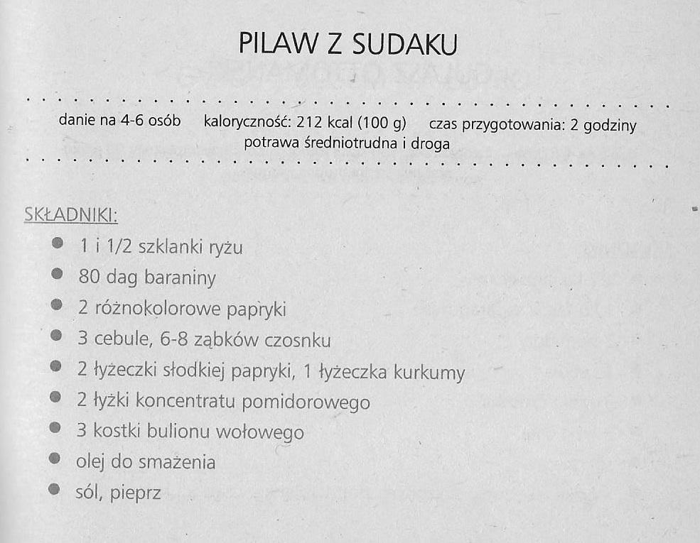 pilaw z Sudaku 1